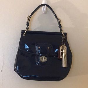 Coach Small Dark Blue Tote.